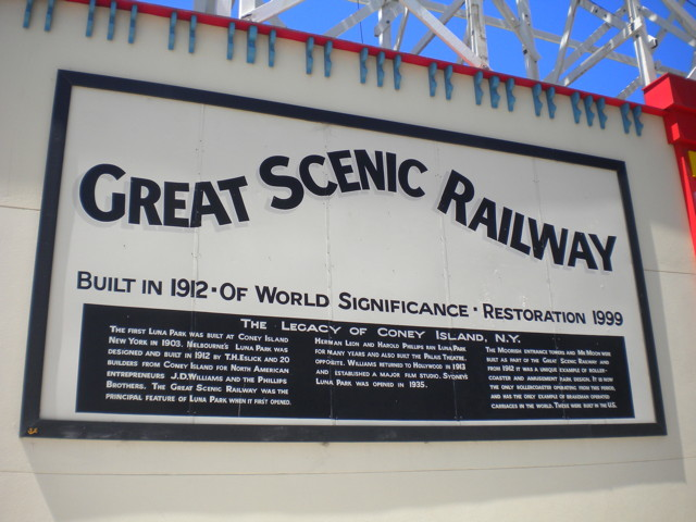 Since 1912, The Luna Park Scenic Railway Has Been Wending And Twisting  Spines Straight Into The Chairs And Coffers Of Chiropractors The World Over!